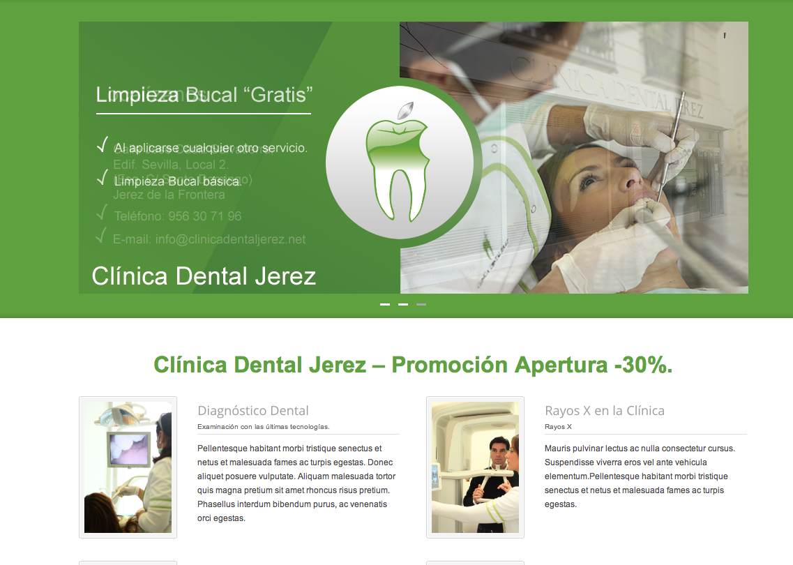 Web Clinica Dental Jerez